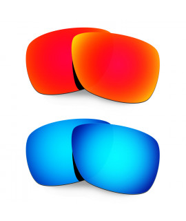 Hkuco Mens Replacement Lenses For Oakley Inmate Red/Blue Sunglasses