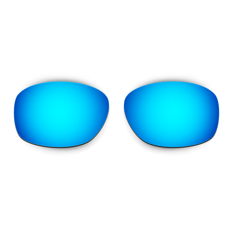 HKUCO Mens Replacement Lenses For Oakley Ten X Blue/Titanium/Emerald Green Sunglasses
