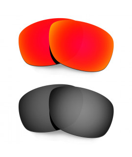 Hkuco Mens Replacement Lenses For Oakley Ten X Red/Black Sunglasses