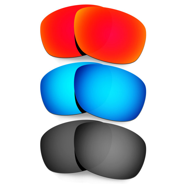 Hkuco Mens Replacement Lenses For Oakley Ten X Red/Blue/Black Sunglasses