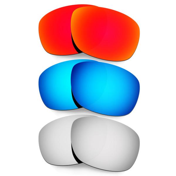 Hkuco Mens Replacement Lenses For Oakley Ten X Red/Blue/Titanium Sunglasses