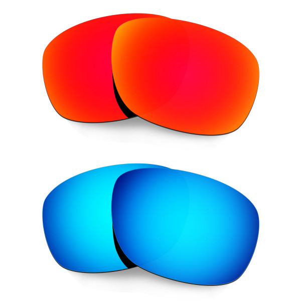 Hkuco Mens Replacement Lenses For Oakley Ten X Red/Blue Sunglasses