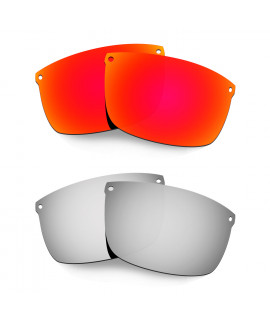 Hkuco Mens Replacement Lenses For Oakley Carbon Blade Red/Titanium Sunglasses