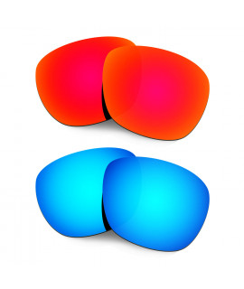 Hkuco Mens Replacement Lenses For Oakley Enduro Red/Blue Sunglasses