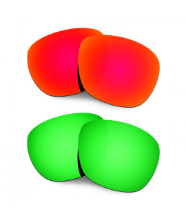 Hkuco Mens Replacement Lenses For Oakley Enduro Red/Emerald Green Sunglasses