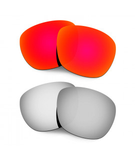 Hkuco Mens Replacement Lenses For Oakley Enduro Red/Titanium Sunglasses