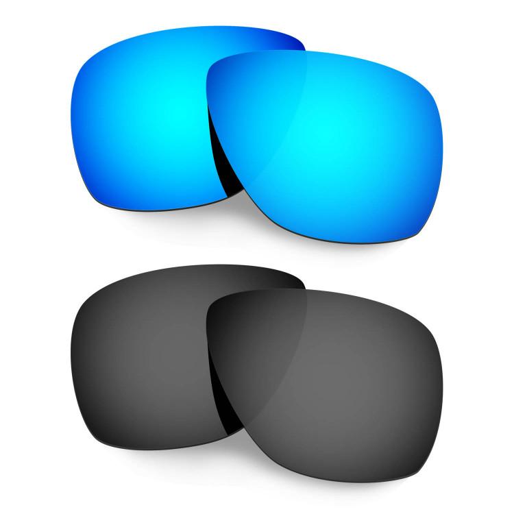 8686015c7f Hkuco Mens Replacement Lenses For Oakley Breadbox Sunglasses Blue Black  Polarized