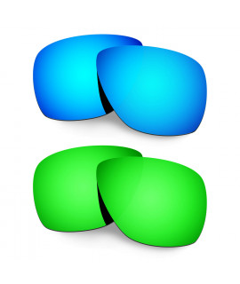 Hkuco Mens Replacement Lenses For Oakley Breadbox Blue/Green Sunglasses