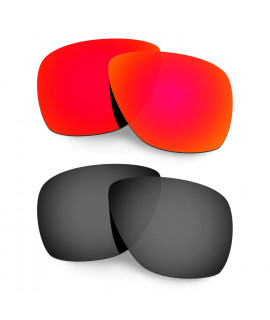 Hkuco Mens Replacement Lenses For Oakley Breadbox Red/Black Sunglasses