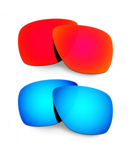 Hkuco Mens Replacement Lenses For Oakley Breadbox Red/Blue Sunglasses