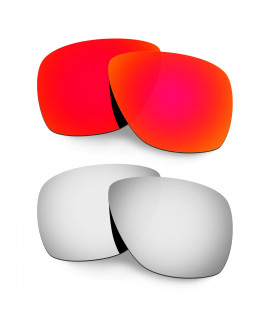 Hkuco Mens Replacement Lenses For Oakley Breadbox Red/Titanium Sunglasses