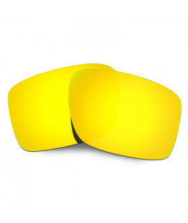Hkuco Mens Replacement Lenses For Oakley Double Edge Sunglasses 24K Gold Polarized
