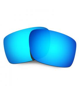 HKUCO Mens Replacement Lenses For 7fMTKRQ5y6 Double Edge Blue/Titanium Sunglasses BuZTB7SH