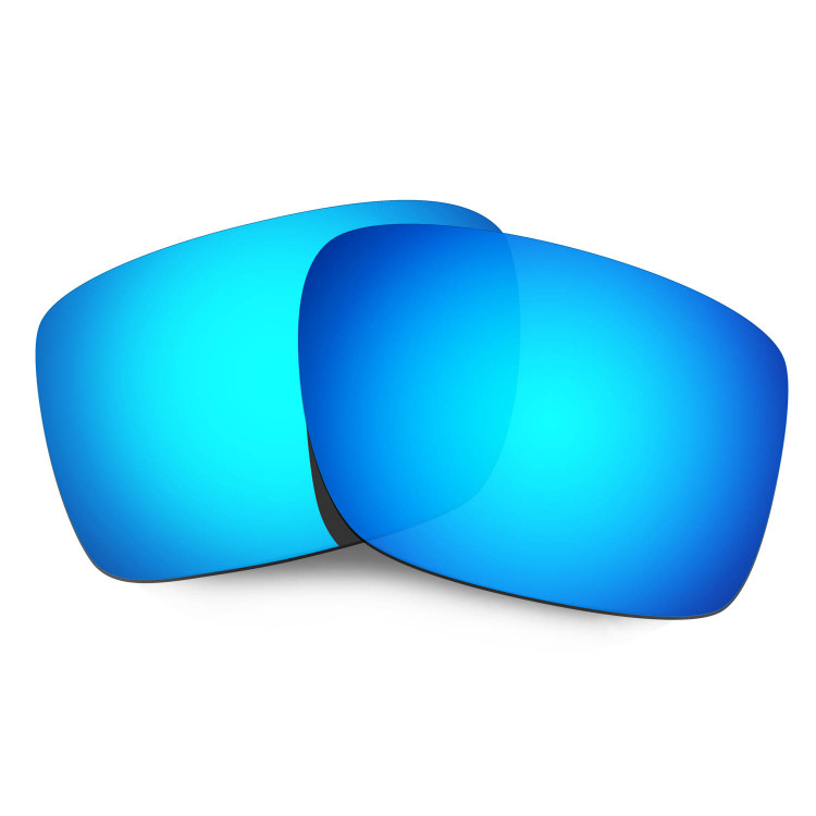 HKUCO Mens Replacement Lenses For Oakley Double Edge Blue/Green Sunglasses P4Rvjjxr