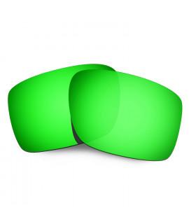 HKUCO Mens Replacement Lenses For tPz3haONSU Double Edge Black/Emerald Green Sunglasses TT2doY