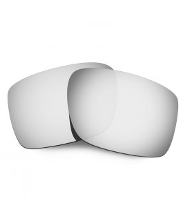 Hkuco Mens Replacement Lenses For Oakley Double Edge Sunglasses Titanium Mirror Polarized