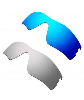 Hkuco Mens Replacement Lenses For Oakley Radar Pitch Blue/Titanium Sunglasses
