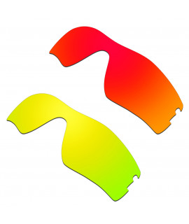 Hkuco Mens Replacement Lenses For Oakley Radar Pitch Red/24K Gold Sunglasses
