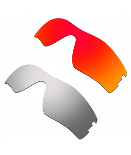 Hkuco Mens Replacement Lenses For Oakley Radar Pitch Red/Titanium Sunglasses