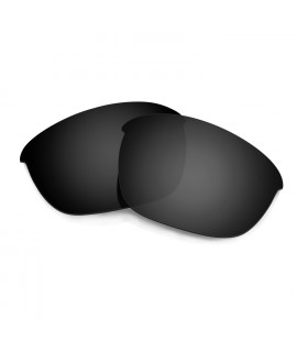 HKUCO Black Polarized Replacement Lenses For Oakley Half Jacket 2.0 Sunglasses