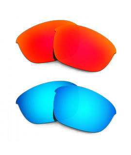 HKUCO Red+Blue Polarized Replacement Lenses For Oakley Half Jacket 2.0 Sunglasses