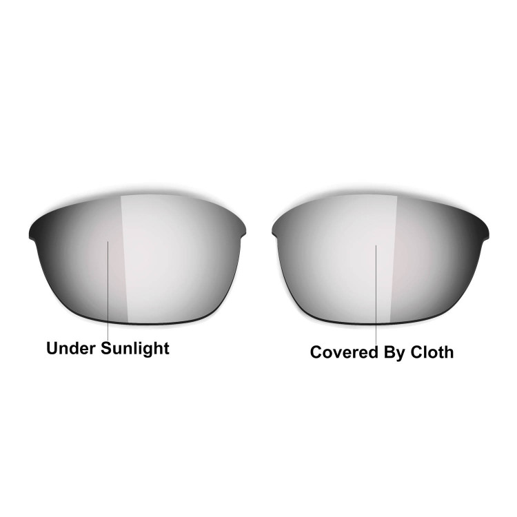 HKUCO Black/Transition/Photochromic Polarized Replacement Lenses For Oakley Half Jacket 2.0 Sunglasses ChdC1i3