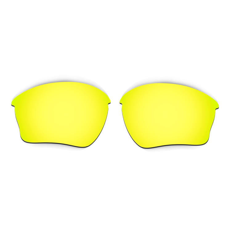 HKUCO Mens Replacement Lenses For Oakley Flak 2.0 Red/24K Gold/Titanium Sunglasses dkK6ud