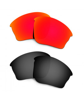 HKUCO Red+Black Polarized Replacement Lenses For Oakley Half jacket XLJ Sunglasses