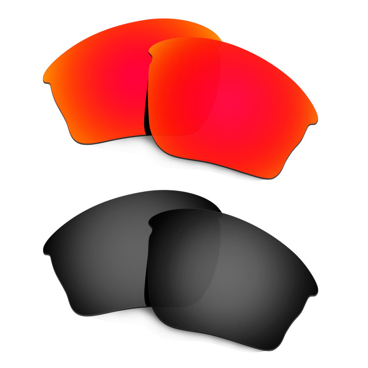 71f3952fa25 HKUCO Red+Black Polarized Replacement Lenses For Oakley Half jacket XLJ  Sunglasses