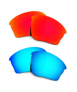HKUCO Red+Blue Polarized Replacement Lenses For Oakley Half jacket XLJ Sunglasses