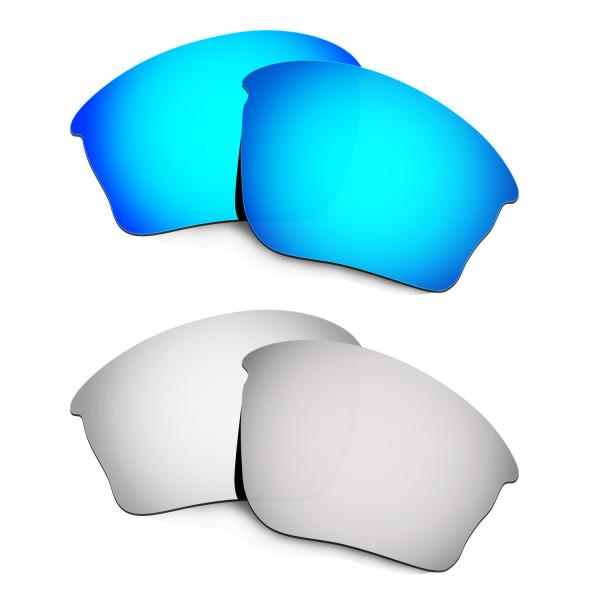 Hkuco Mens Replacement Lenses For Oakley Half Jacket XLJ Blue/Titanium Sunglasses