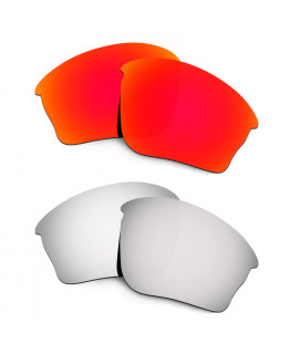 Hkuco Mens Replacement Lenses For Oakley Half Jacket XLJ Red/Titanium Sunglasses