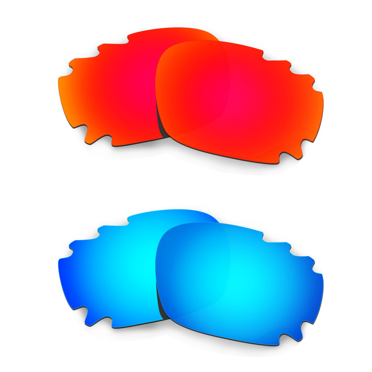 f92b65395cc HKUCO Red+Blue Replacement Lenses For Oakley Jawbone Vented Sunglasses