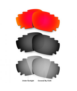 Hkuco Red/Black/Transition/Photochromic Polarized Replacement Lenses For Oakley Jawbone Vented Sunglasses