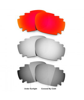 Hkuco Red/Titanium/Transition/Photochromic Polarized Replacement Lenses For Oakley Jawbone Vented Sunglasses