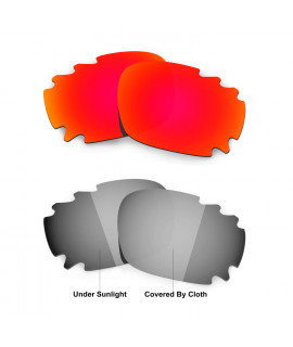Hkuco Red/Transition/Photochromic Polarized Replacement Lenses For Oakley Jawbone Vented Sunglasses