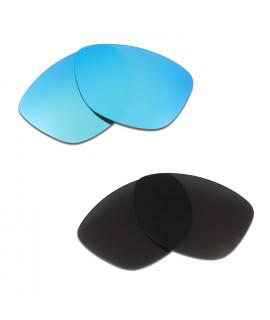 HKUCO Blue+Black Polarized Replacement Lenses For Oakley Jupiter Sunglasses