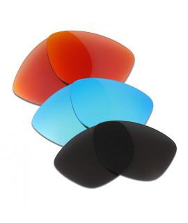 HKUCO Red+Blue+Black Polarized Replacement Lenses For Oakley Jupiter Sunglasses