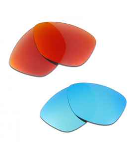 HKUCO Red+Blue Polarized Replacement Lenses For Oakley Jupiter Sunglasses