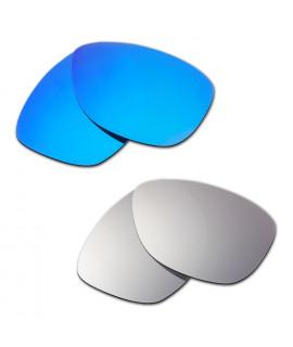 Hkuco Mens Replacement Lenses For Oakley Jupiter Blue/Titanium Sunglasses