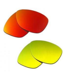 Hkuco Mens Replacement Lenses For Oakley Jupiter Red/24K Gold Sunglasses