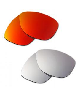 Hkuco Mens Replacement Lenses For Oakley Jupiter Red/Titanium Sunglasses