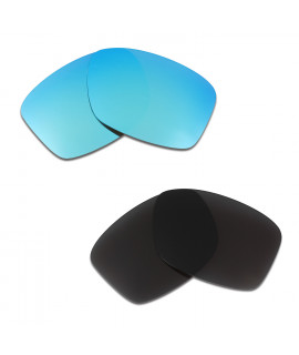 HKUCO Blue+Black Polarized Replacement Lenses For Oakley Jupiter Squared Sunglasses