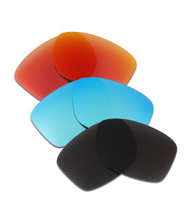 HKUCO Red+Blue+Black Polarized Replacement Lenses For Oakley Jupiter Squared Sunglasses