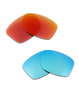 HKUCO Red+Blue Polarized Replacement Lenses For Oakley Jupiter Squared Sunglasses