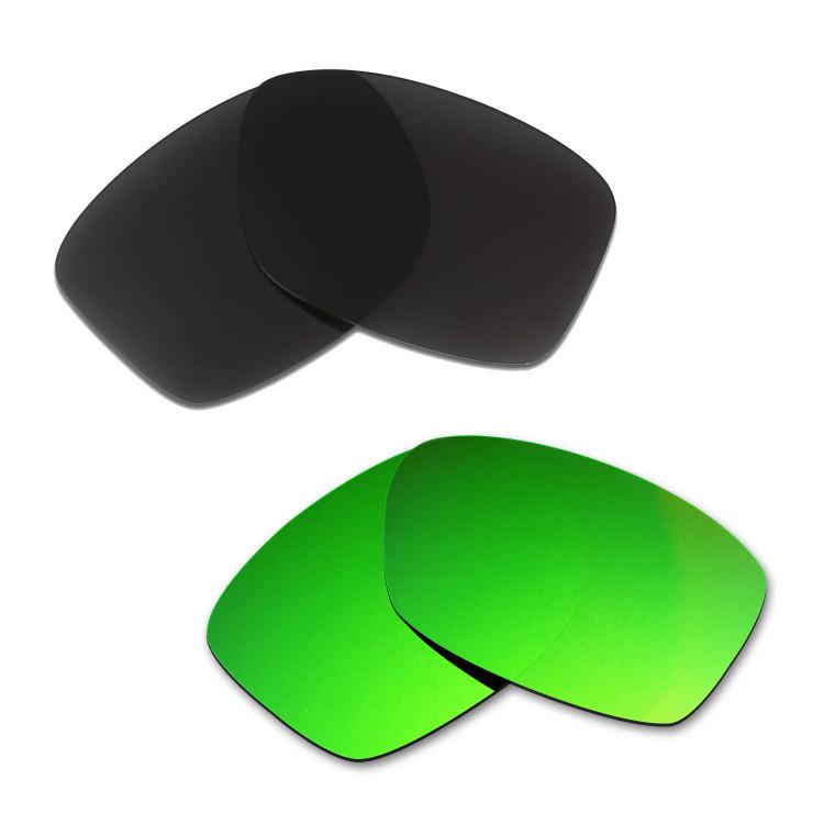 95b2ec7cd87 Hkuco Mens Replacement Lenses For Oakley Jupiter Squared Black Emerald Green  Sunglasses