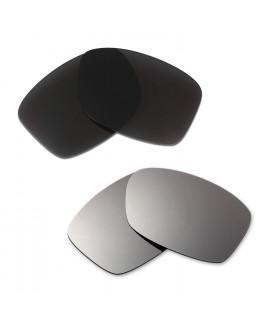 Hkuco Mens Replacement Lenses For Oakley Jupiter Squared Black/Titanium Sunglasses