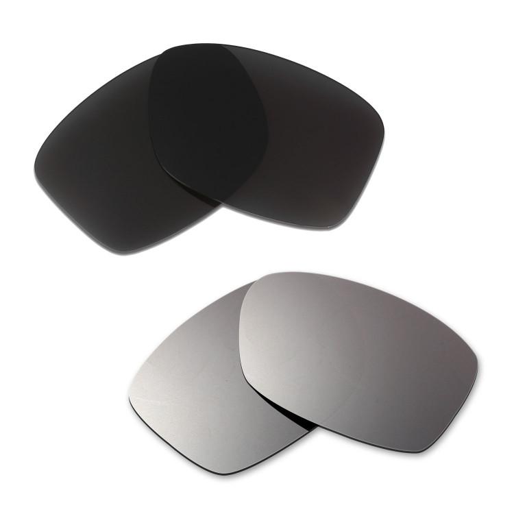 74b8de5e9d4 Hkuco Mens Replacement Lenses For Oakley Jupiter Squared Black Titanium  Sunglasses