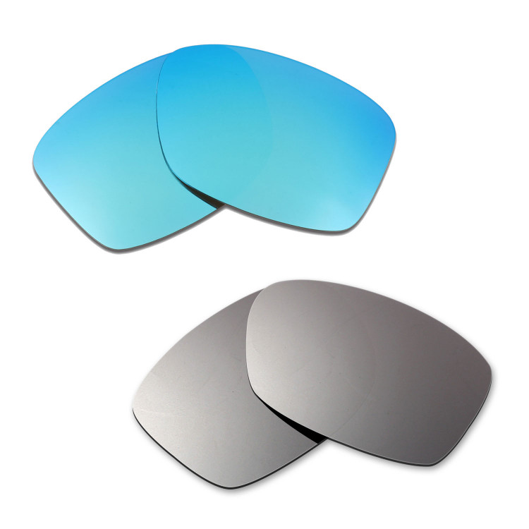 ef2ac205ac Hkuco Mens Replacement Lenses For Oakley Jupiter Squared Blue Titanium  Sunglasses