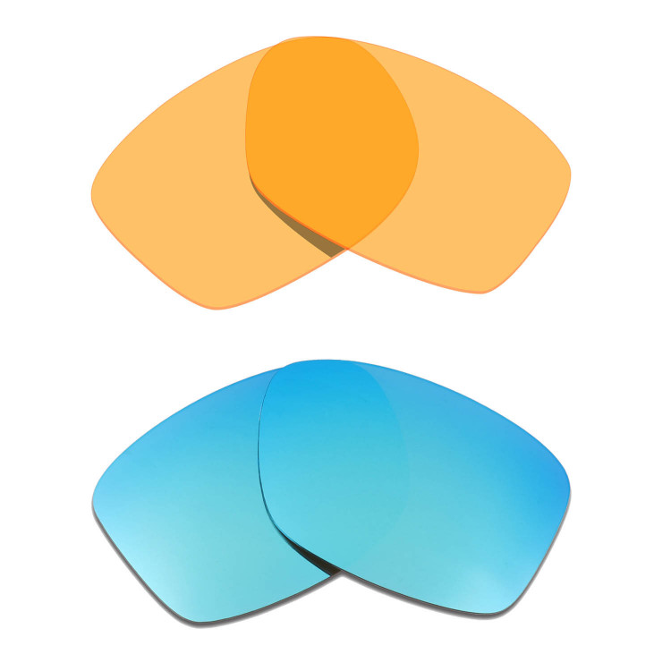 d2378d51e1d Hkuco Mens Replacement Lenses For Oakley Jupiter Squared Sunglasses Blue Transparent  Yellow Polarized